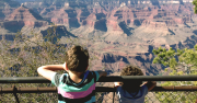Children at the rim of Grand Canyon