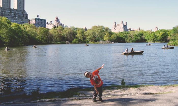 Vid en sjö i Central Park