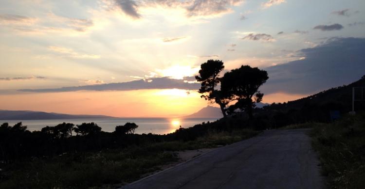 Solnedgång i Makarska
